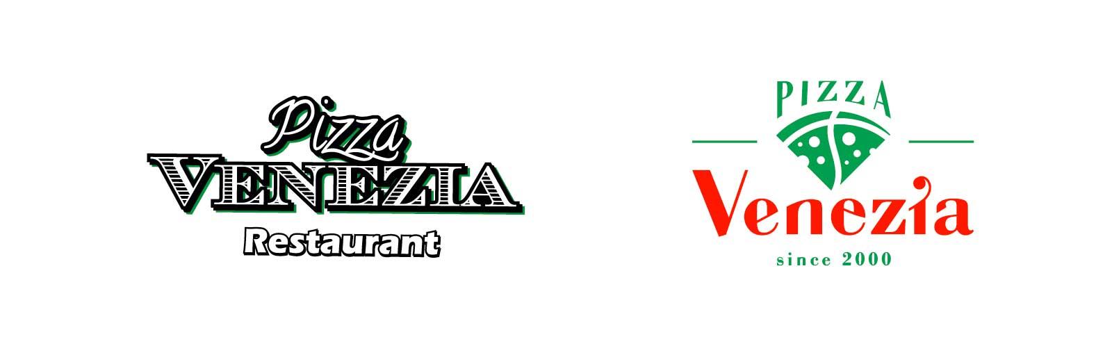 Logo pizza venezia pred a po redizajne